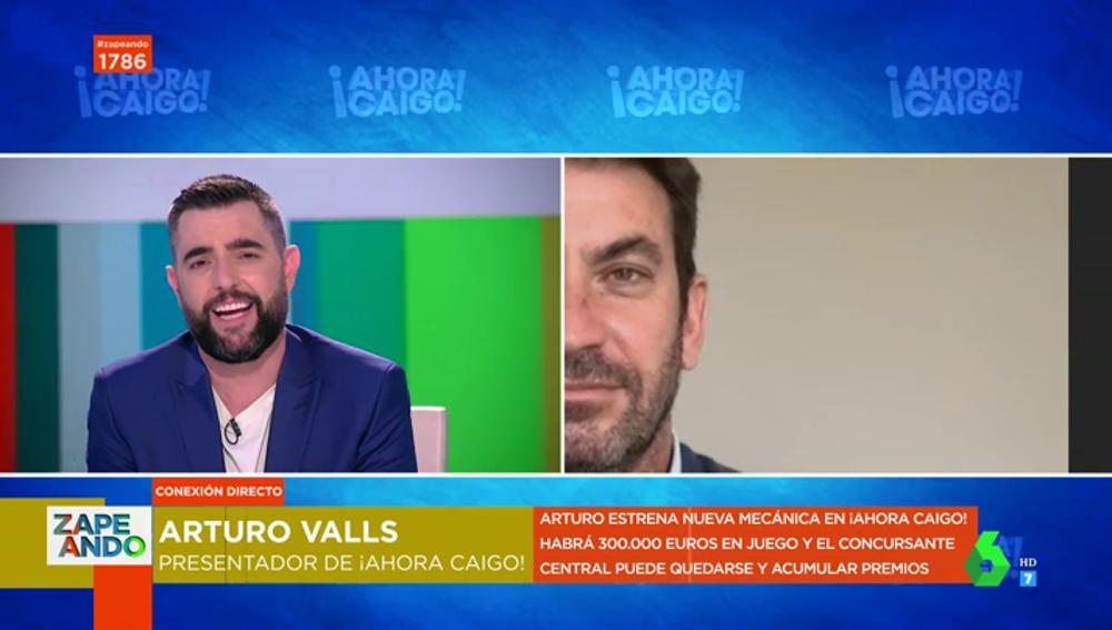 El chiste de Arturo Valls en su divertida aparición en directo en Zapeando