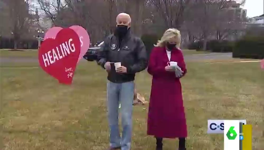 La reacción de Joe y Jill Biden ante la inesperada propuesta de una periodista en San Valentín