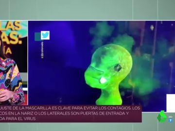 ¿Es de verdad necesario usar doble mascarilla? El vídeo que refleja cómo se cuela el virus si no la ajustas bien