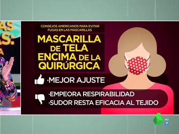 Cómo ajustar la mascarilla de forma adecuada: los cuatro trucos para que no se cuele ni salga el virus