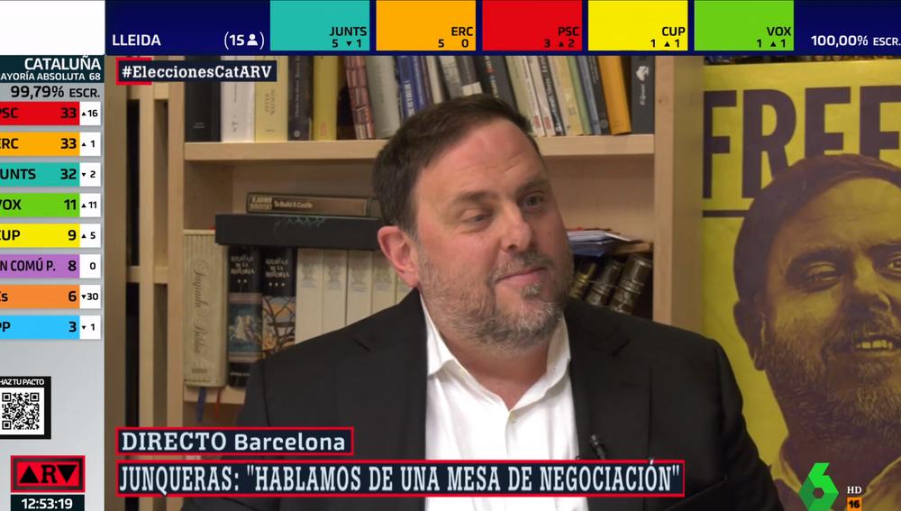 Oriol Junqueras, en Al Rojo Vivo