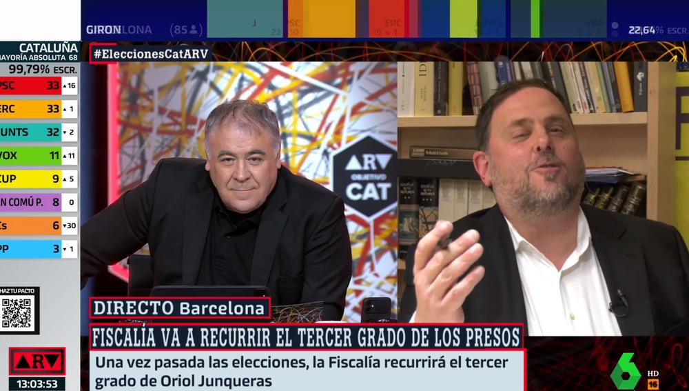 Antonio García Ferreras y Oriol Junqueras en ARV