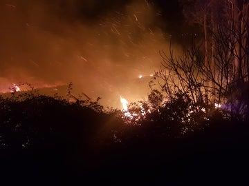Incendio en el campo de Golf de Pedreña