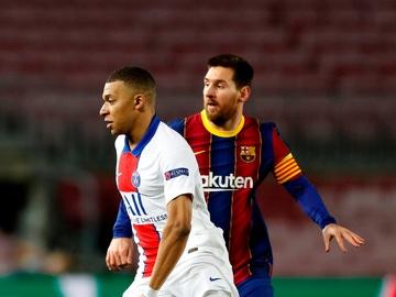 Kylian Mbappé y Leo Messi