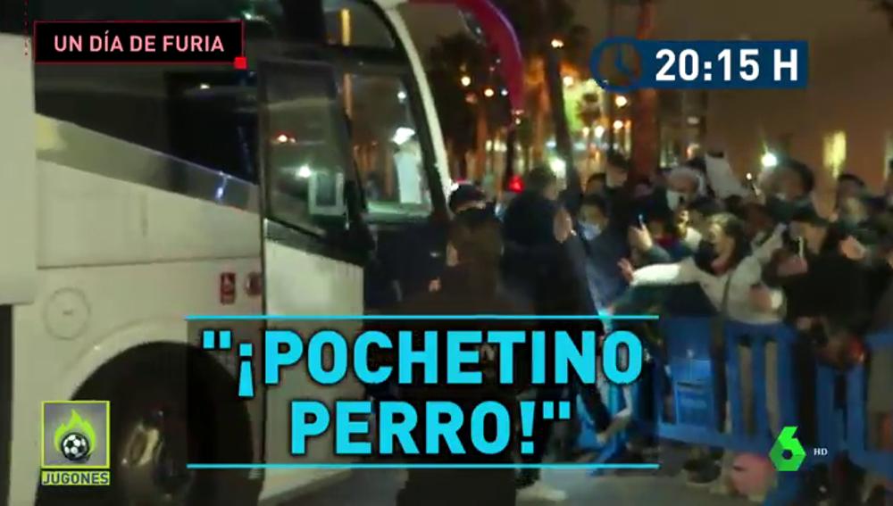 Máxima tensión con el PSG en Barcelona: insultos y petardos para toda la expedición