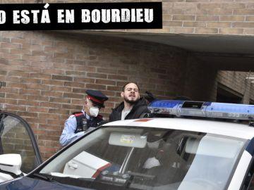 Momento de la detención de Pablo Hasél