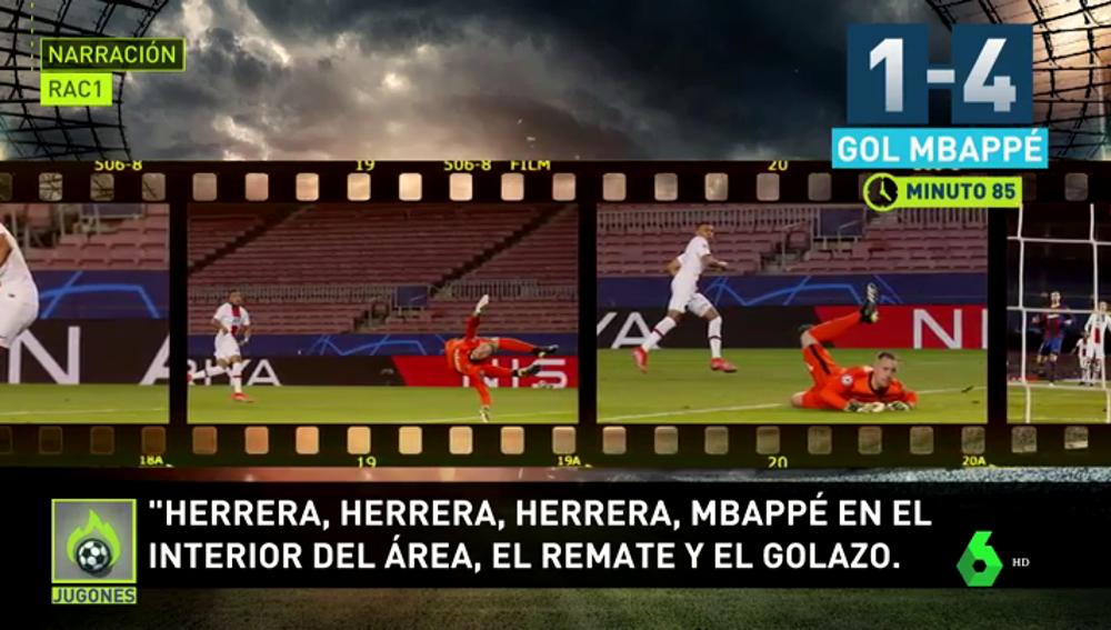 La 'triste' narración de 'Rac1' en el Barça-PSG