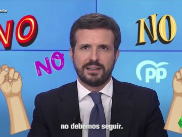 """""""Que no, no, no, no debemos seguir"""", el hitazo de Pablo Casado con el que se despide de Génova"""