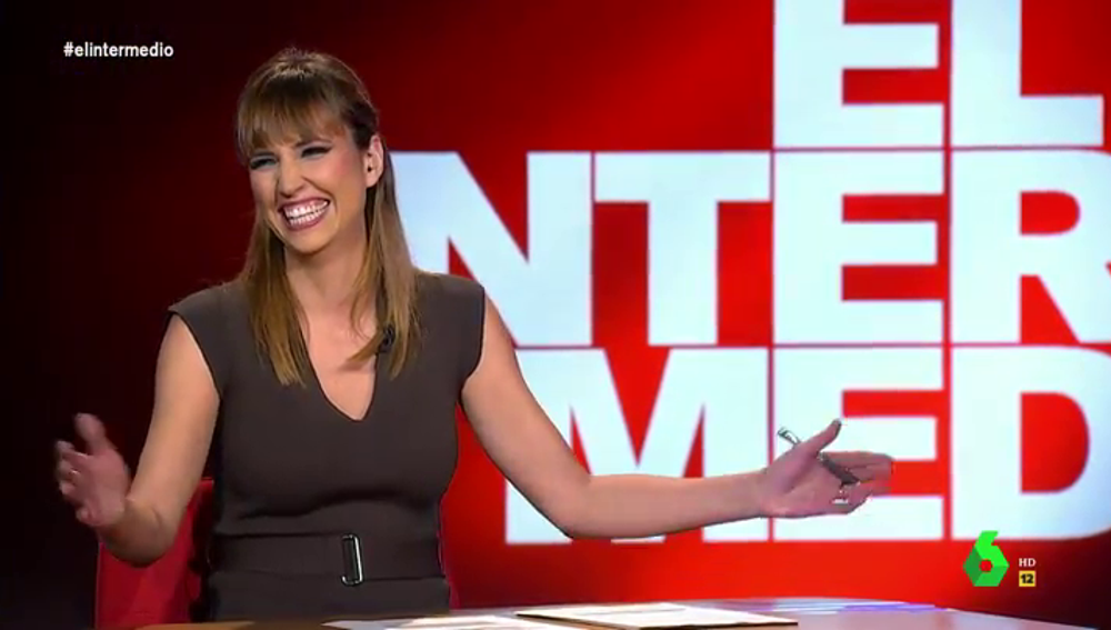 La carcajada de Sandra Sabatés en pleno directo con la divertida broma de Wyoming sobre Rajoy