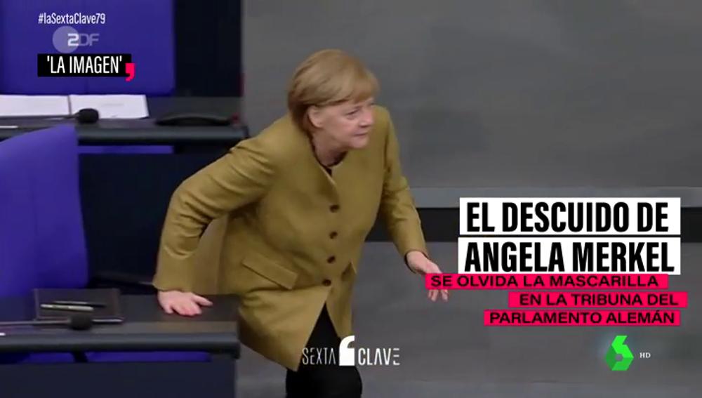 El despiste de Merkel con la mascarilla con el que muchos se sentirán identificados