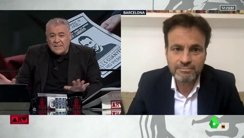 Jaume Asens, entrevistado en 'ARV'.