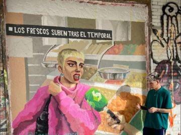 Mural de la intervención de Samantha Hudson en laSexta