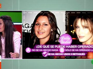 """Dani Mateo, Cristina Pedroche, Miki Nadal y Lorena Castell juegan a adivinar los retoques estéticos de las famosas: """"Son dos personas diferentes"""""""