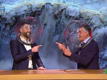 """La intervención de 'Dani Galileo' y 'Gran Urano' desde Marte con escafandra incluida: """"Somos dos terrícolas sin vida inteligente"""""""