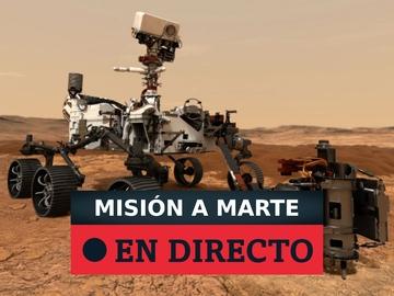 Aterrizaje de la nave Perseverance en Marte, en directo