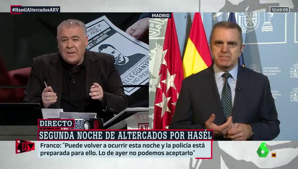 """Franco advierte de que """"la Policía ya está preparada"""" porque esta noche """"pueden volver los disturbios"""" al centro de Madrid"""