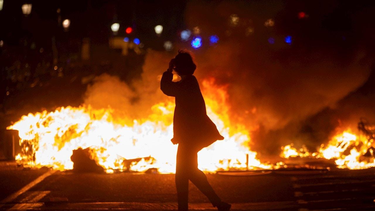Altercados tras la manifestación en Barcelona
