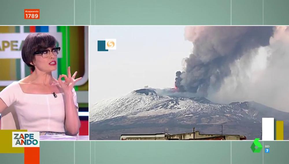 La ocurrencia de Thais Villas al ver al volcán Etna en eurpdción: intentó subirse vestida de fiesta y con tacones