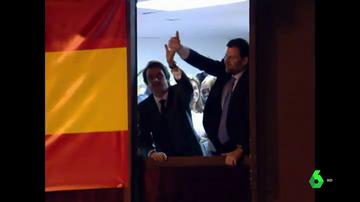 Aznar y Rajoy en Génova