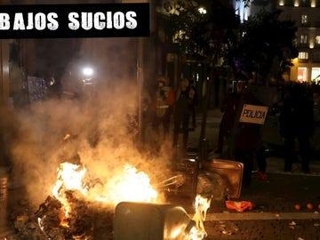Protestas en Madrid por la detención de Hasél