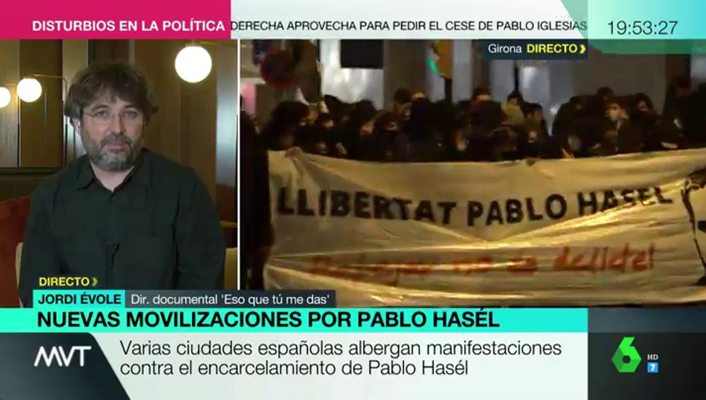 "Jordi Évole revela que ha firmado ""contra el encarcelamiento del rapero Pablo Hasél"" pese a que le deseó la muerte"