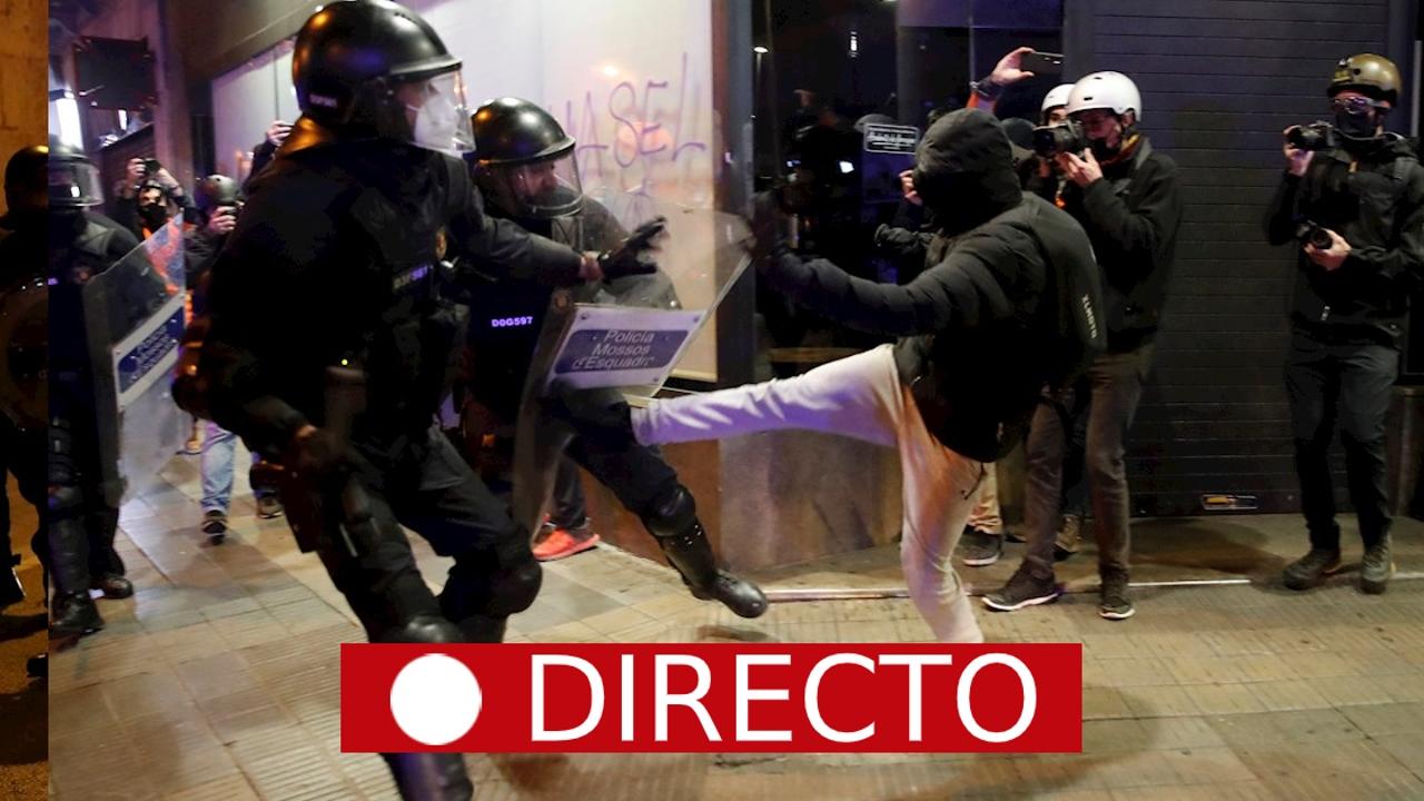 Disturbios en una nueva jornada de protestas por la libertad del rapero Pablo Hasél