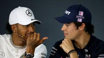 Lewis Hamilton y Lance Stroll