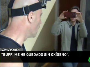 """La increíble carrera de David March contra un ascensor: """"Me ha faltado oxígeno"""""""