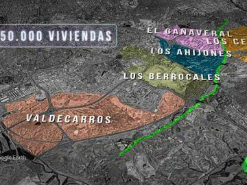 El 'oro' invisible de la Cañada Real, la única gran superficie por la que puede crecer la ciudad de Madrid