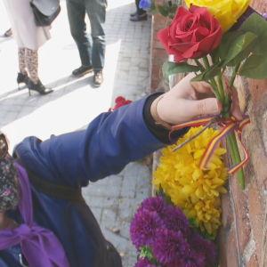 Homenaje a las mujeres fusiladas por el franquismo en Madrid