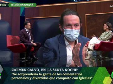 """Carmen Calvo: """"Muchos se sorprenderían de los comentarios personales y divertidos que comparto con Pablo Iglesias"""""""