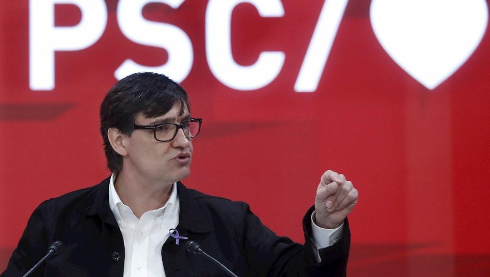El candidato socialista a la presidencia de la Generalitat, Salvador Illa
