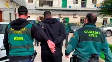 Imagen del momento de la detención del fugitivo en Valencia