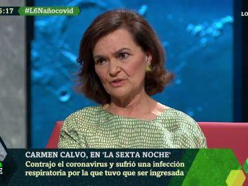 """La emoción de Carmen Calvo al recordar haber pasado el coronavirus: """"Cuando me levanto pienso en la gente en las UCI"""""""
