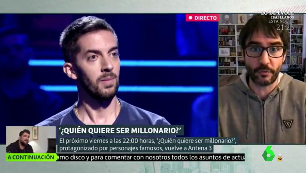 """Juanra Bonet, al frente de la edición de famosos de '¿Quién quiere ser millonario?': """"Se quedan en pelotas, con mucha presión"""""""