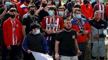 Aficionados del Atlético reciben a su equipo