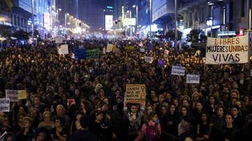 Imagen de archivo de una movilización feminista en Madrid.