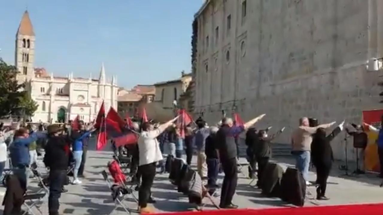 Manifestación de la Falange en Valladolid