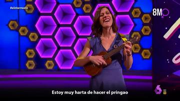 "El emotivo himno feminista de Cristina Gallego en directo: ""Hoy no me voy a callar, porque hoy tú me vas a escuchar"""