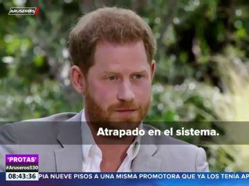 """El príncipe Harry se confiesa sobre su vida en palacio: """"Estaba atrapado en el sistema, igual que el resto de mi familia"""""""