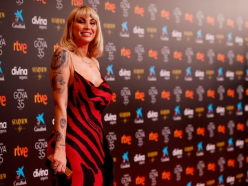 Daniela Santiago, en los premios Goya