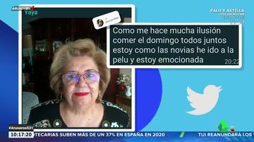 """El mensaje viral de una abuela a su familia: """"Me hace mucha ilusión comer con vosotros, así que he ido a la pelu"""""""