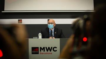El director del Mobile World Congress (MWC) y consejero delegado de la GSMA, John Hoffman, en una rueda de prensa