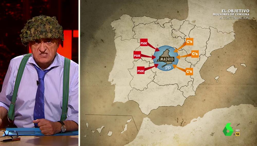 """La reacción de Wyoming al descubrir el 'terremoto' político sufrido en España: """"¡Estamos en guerra!"""""""