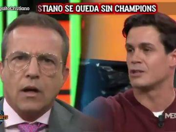 "Brutal cara a cara entre Cristóbal Soria y Edu Aguirre: ""¿Cómo está Cristiano? Fracaso gordo"""