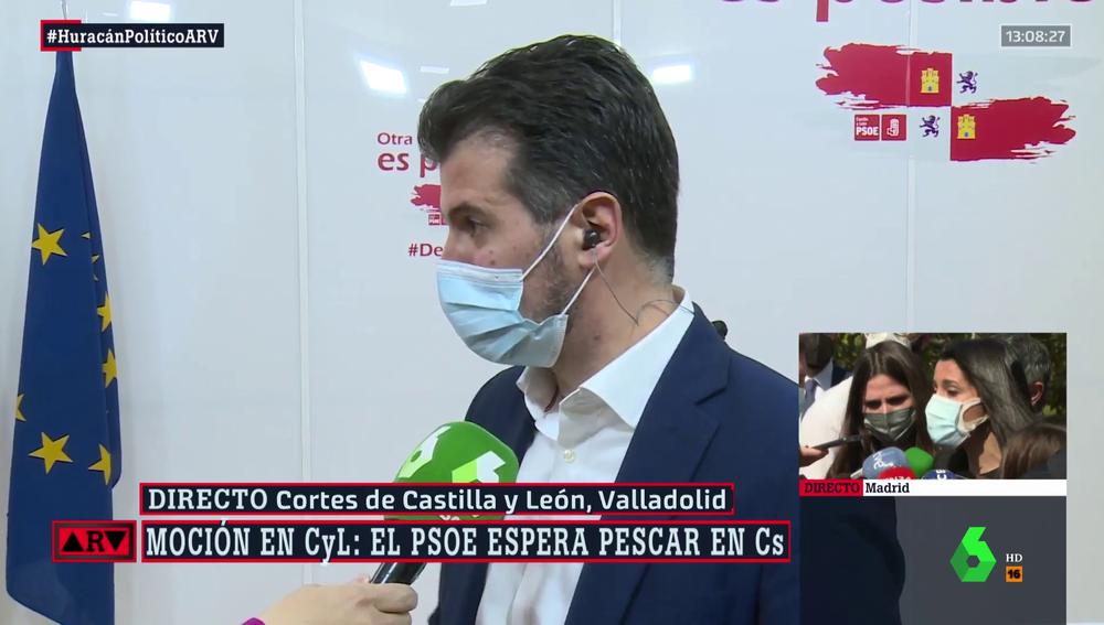 El secretario general del PSOE en Castilla y León, Luis Tudanca, en ARV.