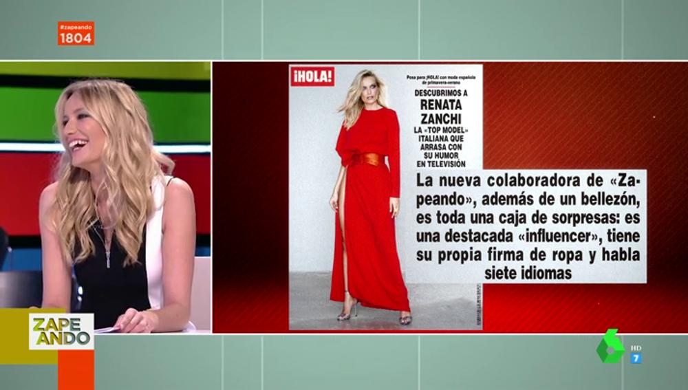 """El dato personal de Renata Zanchi que sorprende a Quique Peinado en pleno directo: """"Hostia"""""""