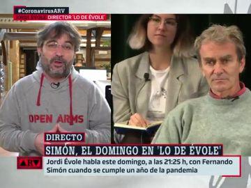 """Évole: """"Creo que cuando Simón se ha puesto el traje de científico no ha pensado en cálculos electorales"""""""