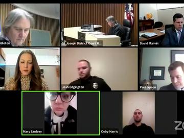 La agónica vista judicial online de una víctima de la violencia machista con su agresor al lado: había entrado en su casa y estaba coaccionándola