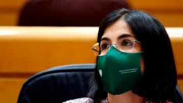 La ministra de Sanidad, Carolina Darias, en la sesión de control al Senado.
